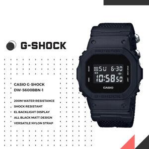 Casio G-Shock DW-5600BBN-1 Mens Digtal Classic Sports Watch Nylon Band FREE SHIP