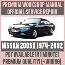 *WORKSHOP MANUAL SERVICE & REPAIR GUIDE for NISSAN 200SX 1974-2002 +WIRING