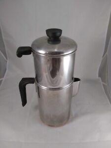 VINTAGE PRE 1968 REVERE WARE 8 CUP COFFEE POT DRIP PERCOLATOR - MISSING TAMPER