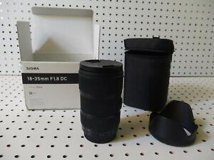 Sigma DC 18-35mm f/1.8 AF HSM DC Lens