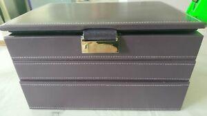 stackers jewellery box purple men or womens