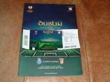 2011 Europa League Final Porto v SC Braga Programme + Ticket