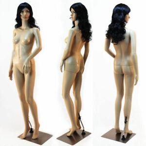 SF-3=4 Weibliche Schaufensterpuppe mit 2 Perücken gratis beweglich Modern Schick