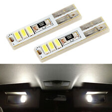 2x 6000k White T5 37 74 LED Visor Vanity Mirror Footwell Light Bulbs