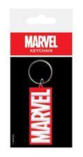 Logo Marvel Comics Film Company Film Rouge caoutchouc blanc Porte-cles officiel
