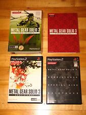 Metal Gear Solid 3 Subsistence 3-disc first print Limited Edition Japan import