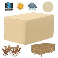 48'' Rectangular Patio Table Cover Garden Outdoor Furniture Rain Dust Protection