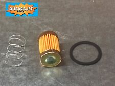 Quadrajet short fuel filter kit with spring and gasket, 65-71. Quadrajet Power