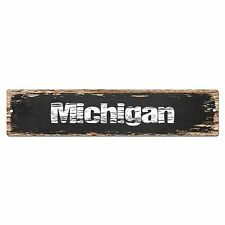 SP0070 Michigan Street Plate Sign Bar Store Shop Cafe Home Kitchen Chic Decor