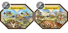 Tigres Tigre Grande Wild Gatos Animales Fauna Islas Salomón MNH Juego de Sellos