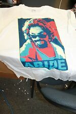 vintage 2012 BIG LEBOWSKI Dude Abides T Shirt NEW size Large