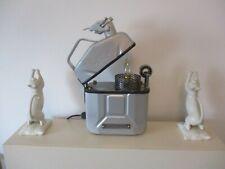PETROL CAN TABLE LAMP LIGHT RETRO VINTAGE STYLE  ZIPPO LIGHTER Artist Signed