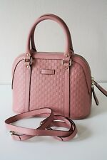GUCCI 449654 Women's Tasche Leather Bag Mini Dome Handbag Leder rosa