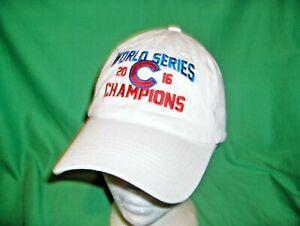 #3111C - CHICAGO CUBS MLB BASEBALL HAT, CAP - 2016 WORLD SERIES CHAMPIONS