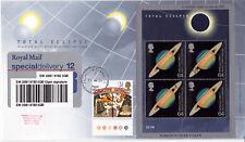 1999 Eclipse Miniature Sheet - RM - Falmouth CDS