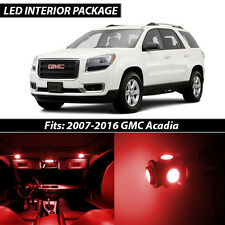 2007-2016 GMC Acadia Red Interior LED Lights Package Kit