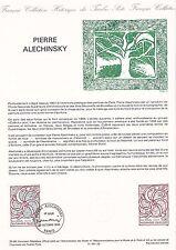 Document Philatélique Timbre 1er Jour : 12/10/ 1985 - Pierre Alechinsky