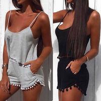 Womens Holiday Mini Playsuit Ladies Jumpsuit Summer Beach Dress