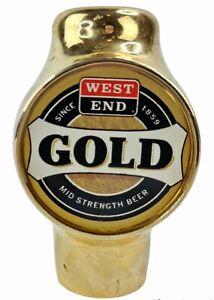 West End Gold Beer Tap Bar Original Vintage Mid Strength Man Cave Home Brew Knob