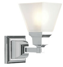 Livex Lighting 1031-05 Mission 1 Light Wall Sconce, Polished Chrome