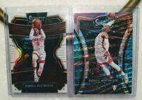 2019 Select Russell Westbrook 2-Card Lot White + Tri-Color Houston Rockets