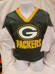 SUPER CUTE Green Bay Packers Sz 3T Long Sleeve Jersey Shirt, NEW&NICE!