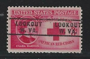 Precancels - WV - Lookout - 967-743 - 3¢ Clara Barton Red Cross - nice denom