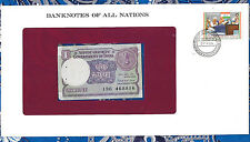 *Banknotes of All Nations India 1 Rupee 1985  P78A/a AUNC prefix 19G*