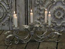 Chic Antique 5 armiger Kerzenleuchter Metall Shabby Vintage Landhaus Antikcreme
