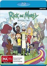 Rick And Morty : Season 2 (Blu-ray, 2016, 2-Disc Set)