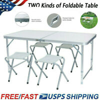 Portable Camping 2-4 Person Folding Aluminum Picnic Party Dining Desk Table