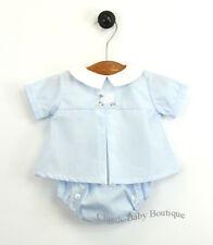 NWT Petit Ami Blue Lamb Button Diaper Set 3 6 9 months Baby Boys