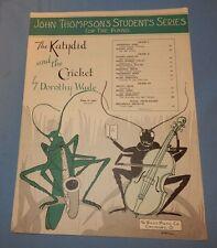 1936 The Katydid and the Cricket by Dorothy Wade Piano 1930's
