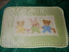 Vintage 30x45 Carter's Hide & Seek Bunny Bear Minky Plush Baby Comforter Blanket