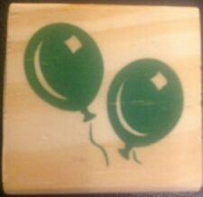 Woodblock Rubber Stamp Balloons