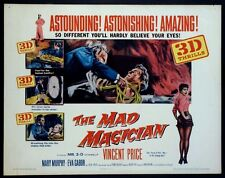 THE MAD MAGICIAN VINCENT PRICE 3-D HORROR 1954 HALF-SHEET STYLE A