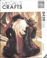 "8439 UNCUT Vintage McCalls Sewing Pattern 15"" Father Christmas Doll Heirloom OOP"