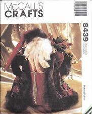 "8439 UNCUT Vintage McCalls Sewing Pattern 15"" Father Christmas Doll Heirloom OOP"
