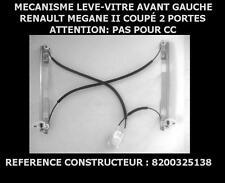 MECANISME LEVE VITRE ELECTRIQUE AVANT GAUCHE RENAULT MEGANE 2 II COUPE 2 PORTES