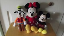 Mickey Mouse, Minnie Mouse, Goofy Disney Plush Stuffed Animal Toy Set