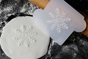 Snowflake cookie embosser, Christmas cookie debosser, Cookie fondant stamp