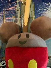 "Disney Parks Mickey Mouse Carmel Apple Emoji Food 11"" Plush Toy Nwt"