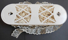 """24 yd 1.25"""" Carolace Vertical Ruffled Lace reel Crafts Bow Wedding Trim Doll"""