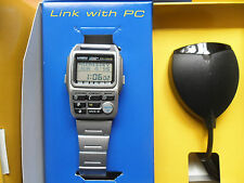 CASIO BZX-20 NOS VINTAGE NUEVO CORREA ACERO COLLECTION PC LINK watch rare NEW