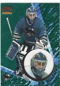 ED BELFOUR SAN JOSE SHARKS 1997-98 PACIFIC INVINCIBLE EMERALD PARALLEL #123