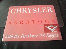 1952 Chrysler Saratoga Brochure