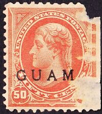 Guam - 1899 - 50 Cents Orange Thomas Jefferson Issue w/ Overprint #11 Mint F-VF