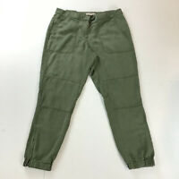 Women's Skinny Cargo Pants Ann Taylor Loft High Rise Ankle Size 6 Army Green