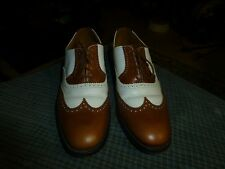 Vtg THE BRITISH ISLES COLLECTION LOAKE Leather Wing Tip Shoes Mens  Sz 8 1/2