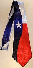 The Texas Flag All Over A Brand New 100% Polyester Necktie Tie! Free Shipping
